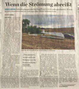 Krantenartikel buitenlanding