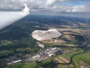 Grote 'berg' bij Eisenach